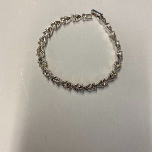 925 Sterling Silver Avon Bracelet with Stones